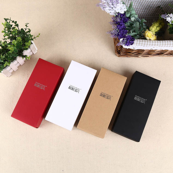 hot sales small present boxes kraft and cardboard packaging box 3 color accept costom logo(2)