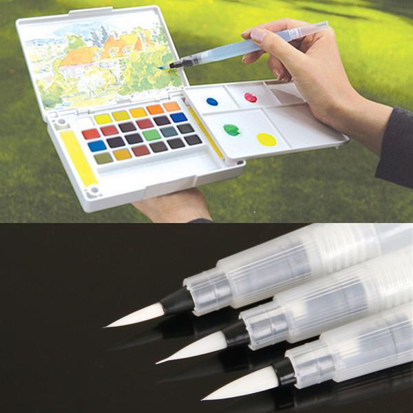 Многоразовые вода кисть чернила ручка для акварель каллиграфия рисунок живопись ручка канцелярские живопись инструмент