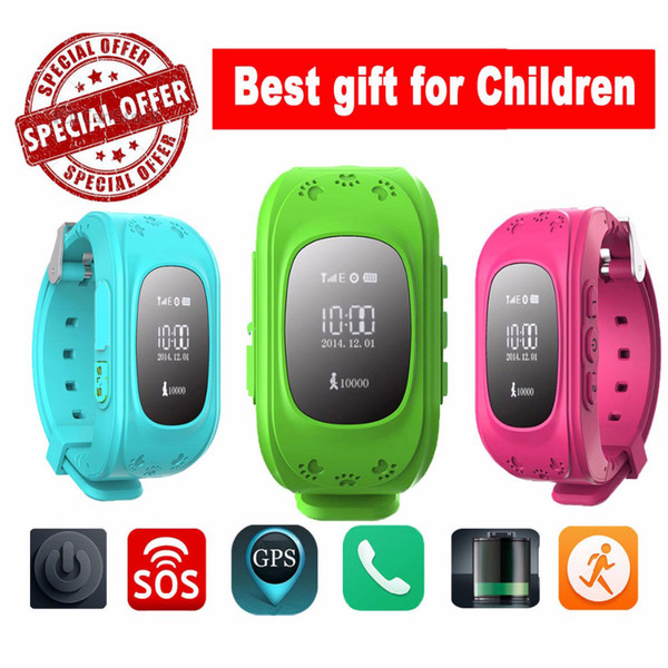 Wholesale- Smart Phone Watch Children Wristwatch G36 Q50 GSM GPRS GPS Locator Tracker Anti-Lost Smartwatch Child Guard for iOS Android