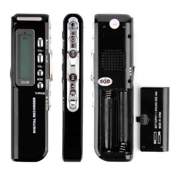 Professional Mini Digital Voice Recorder Pen Audio Recorder with 8GB Built-in Memory LCD Display MP3 Music Player