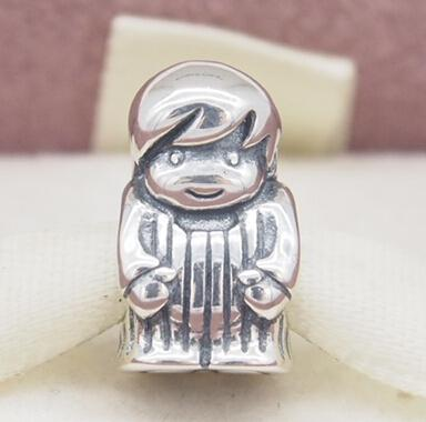 Fits Original Pandora Bracelets & Bangles & Necklaces PRECIOUS BOY CHARM DIY Beads Real Solid 925 Sterling Silver Not Plated