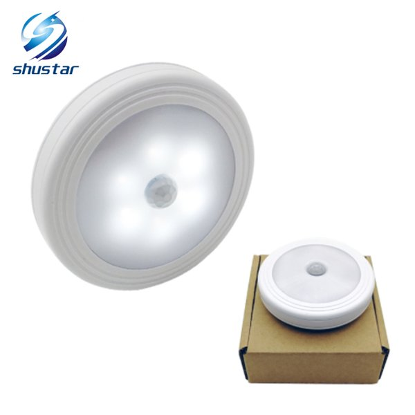 Sycees Motion Sensor LED Night Light Lamp, Battery Operated, Stick on Anywhere for Closet, Cabinet, Bedroom, Bathroom, Kitchen, Hallway