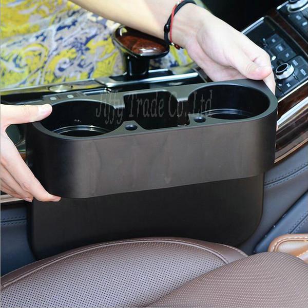Nuevo Portátil Taza de vehículo multifunción Soporte para teléfono celular Soporte para bebidas Caja de guantes Accesorios para autos (colro: negro)
