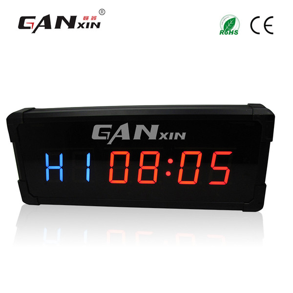 [GANXIN]3 inch Gym Fitness Timer Cross Fit Interval Training Electric Garage Timer With IR Remote Control