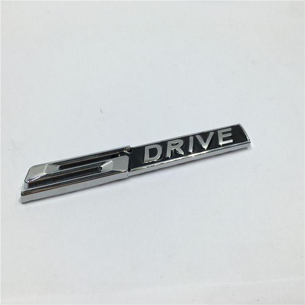 2Pcs Auto Accessories Metal 3D S DRIVE SDRIVE Emblem Chrome Badge Side Logo Car Stickers Decal