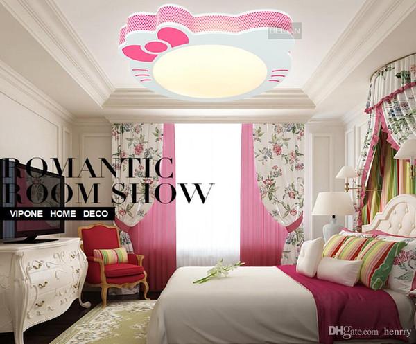 2019 Girls Bedroom Lighting Multicolor May Choose. LED Ceiling Cartoon  Princess Room Lighting. Kty Cat Cartoon Children Light Fixtures From  Ripple8, ...