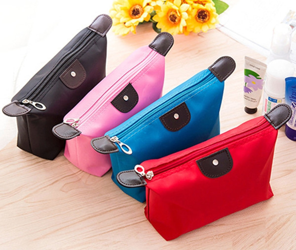Candy Color Travel Makeup Bags Women S Lady Cosmetic Bag Pouch Clutch Handbag Hanging Jewelry Casual Purse Makeup Personalized Cosmetic Bags From