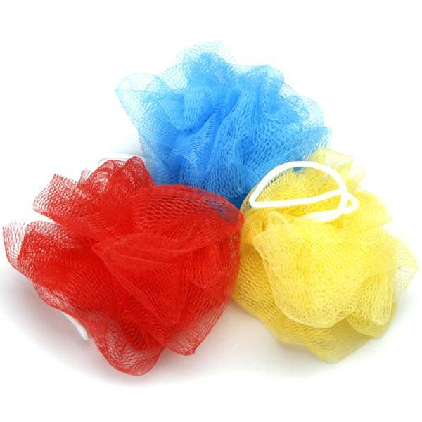 best selling Wholesale Bath Shower Body Exfoliate Puff Sponge Mesh Net Candy Colors Mesh Sponge Soft Bath Brush Sponges Scrubbers (Random Color) 17110602