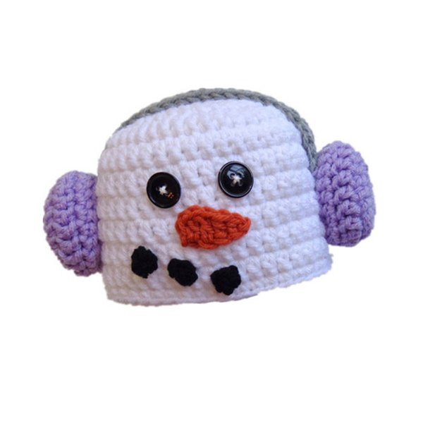 Adorable Crochet Baby Snowman Hat wearing Headphones,Handmade Knit Baby Boy Girl Snowman Beanie,Infant Newborn Photo Prop