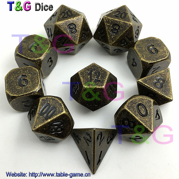 Of 10 Old Gold Copper Colored Polyhedral Metal Dice 16mm D6, RPG Or Dnd  Dice From Tg_wholesale, $35 18 | DHgate Com