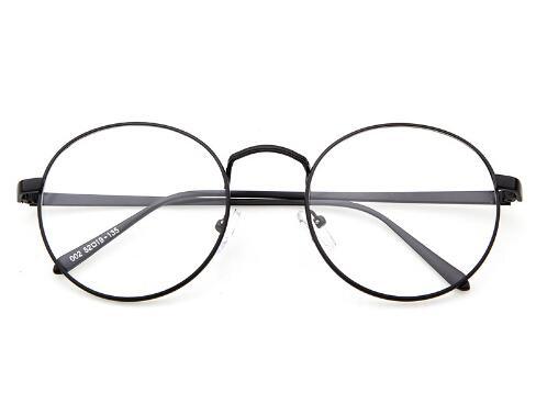 Korean Glasses Frame Retro Full Rim Gold Eyeglass Frame Vintage Spectacles Round Computer Glasses Unisex NO Degrees