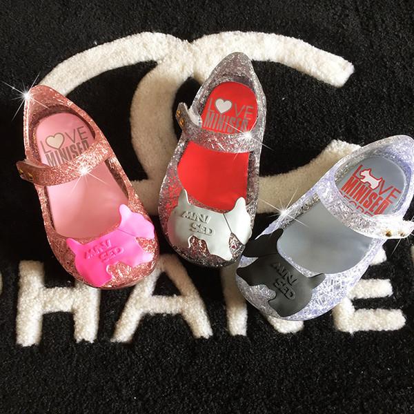 Melissa Campana Zig Zag per bambini sandali vuoti gelatina pattini della principessa PVC morbido pattini inferiori 24-29 libero di trasporto C742