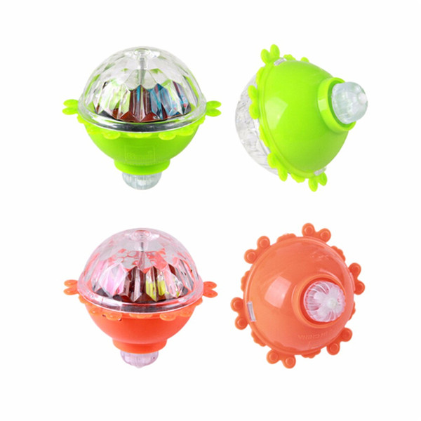 Kids Lighting Toys LED Gyro Light Glow Gyro Toys Friction Tops Spinning Tops of Children Kid Toys Gift