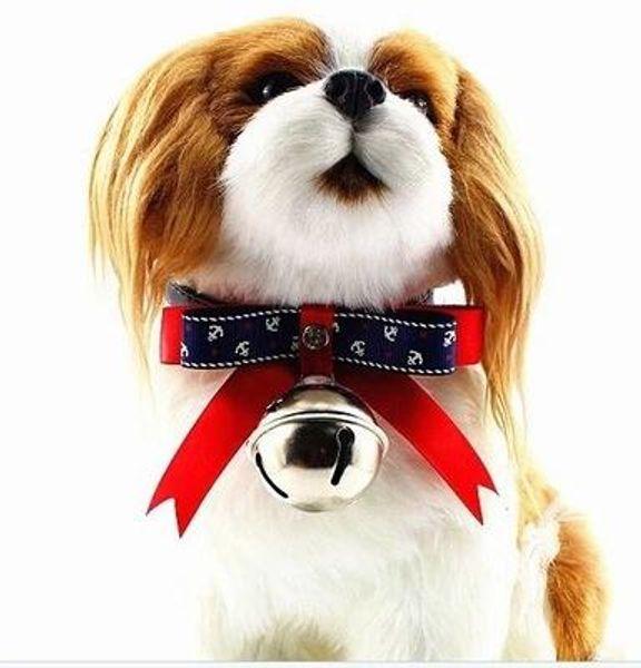 20pcs Haustierzusätze Teddy Katze kleine Hundehalsband Ornament große Glocke Bogen Halsband Spot Haustier Versorgung