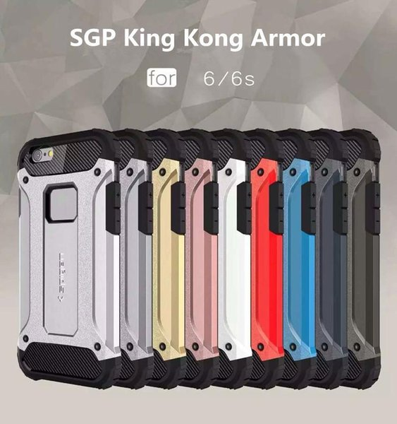 High quality SGP Hybrid Tough Armor Case Heavy Duty Defender Protector for iPhone 7 6s plus 5s SE Samsung Note7 S7 S6 Edge S5 G530 LG G5