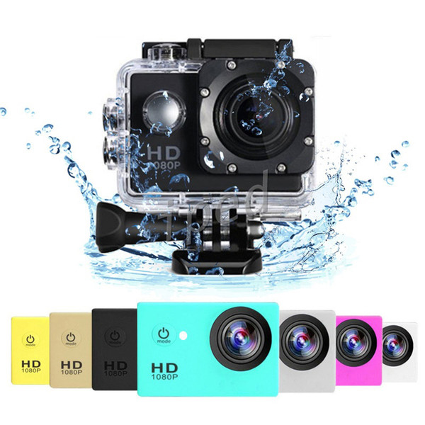 best selling Cheap SJ4000 style A9 2 Inch LCD Screen sports camera 1080P Full HD Action Camera 30M Waterproof Camcorders Helmet Sport DV VS 4k colorful