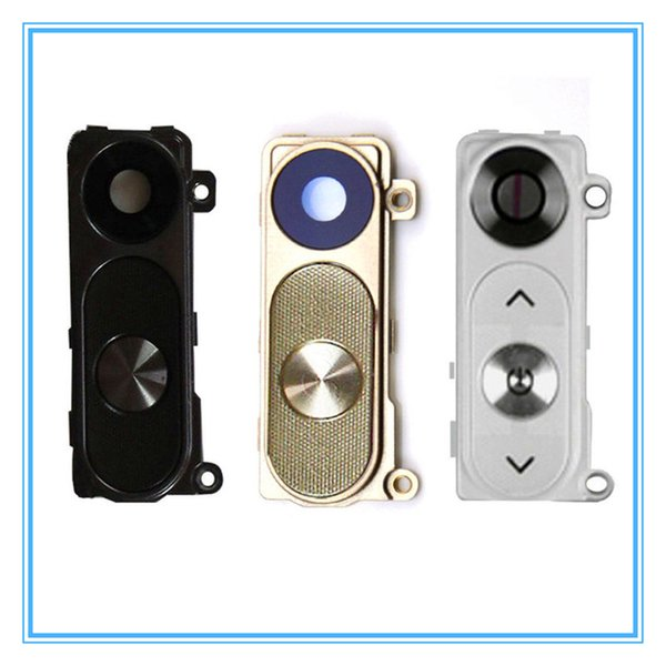 10pcs/lot New Rear Camera Glass For LG G3 D855 D855 D851 Camera Glass Lens With Frame Cover With Power Buttons Key Housing Black White Gold