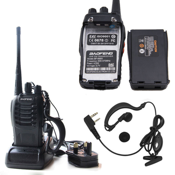 best selling Baofeng BF-888S Tactical wireless Portable Walkie Talkie 5W 400-470MHz Two Way Radio Interphone Mobile Portable