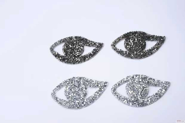25pcs/lot eye design crystal hotfix motifs iron on transfer rhinestone patches strass crystal stones applique for clothing craft