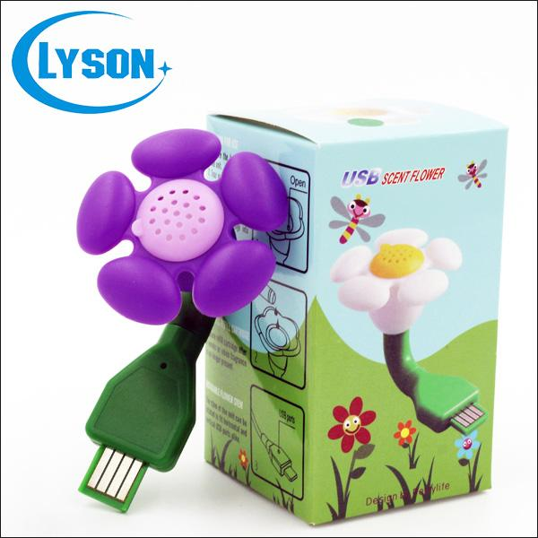 Colorful Electric Mini Plastic Scent Flower USB Plug Aroma Dffuser Commercial Mini Aroma Diffuser Air Freshener