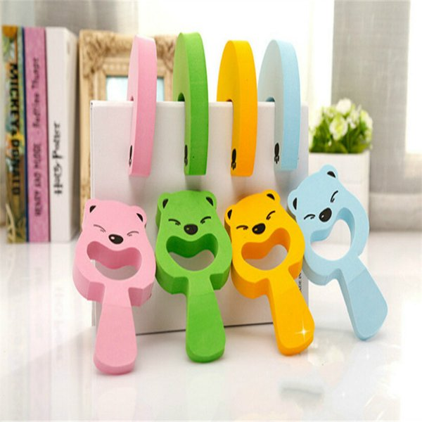 Wholesale- 6PCS Baby Safety Protector Funny Animal Shapes EVA Sliding Door Stopper Finger Guard For Doors Soft Rubber Door Guard