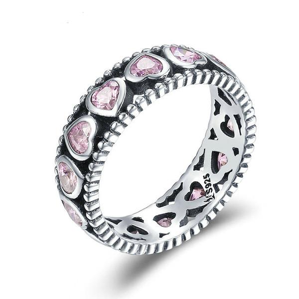 Genuine 925 Silver Sterling Luxury Radiant Heart of Ring crystal Stone UK Seller