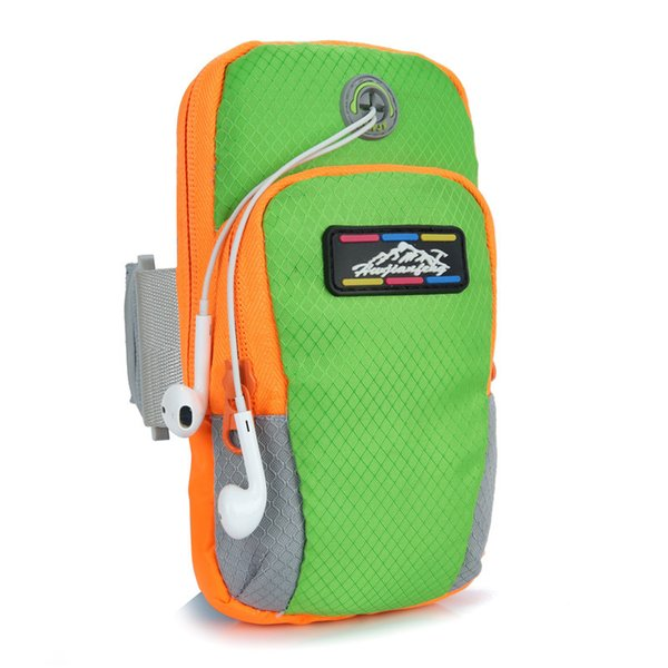 Hot 5 Colors Multi-functional Outdoor Sports Bags Waterproof Running Fitness Arm Pack Phone Bag Coin Pouch with Headphone Holes