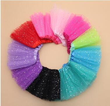 Free Shipping 4-10 Years Fluffy Chiffon Pettiskirts Baby 14 Colors tutu skirts girls Princess Dance Party Tulle Skirt