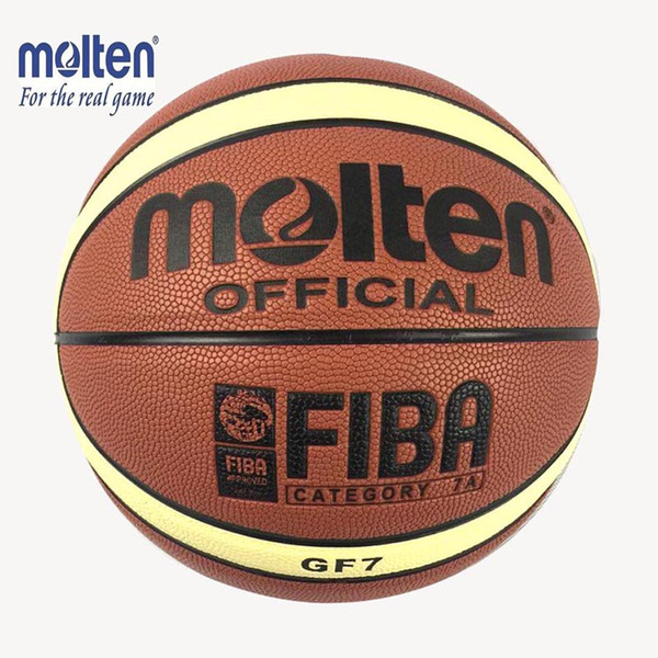 2019 Quality Size 7 New Molten Gf7 Pu Leather Basketball Indoor Outdoor Ballon De Basketball Training Equipment Free Net Bag Pin From Hot Sports