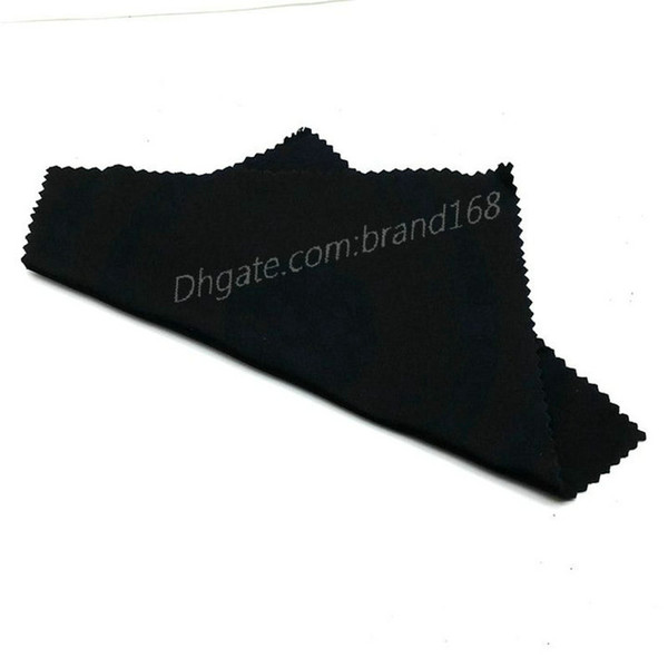 top popular 2018 100% NEW MEN'S WOMEN'S SUNGLASSES CLOTH BLACK COLOR CLEANING CLOTH CHEAP PRICE TOP QUALITY FAST SHIP. 2021