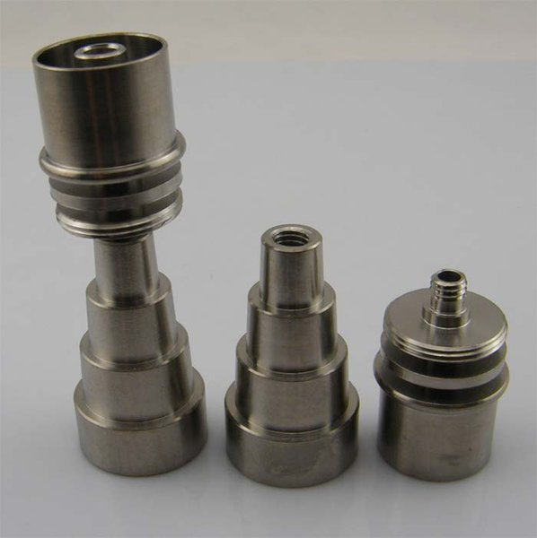 In Stock ! 10/14/18mm male&female adjustable Grade 2 Titanium Domeless E-Nail Nail for 20mm Enail Coil