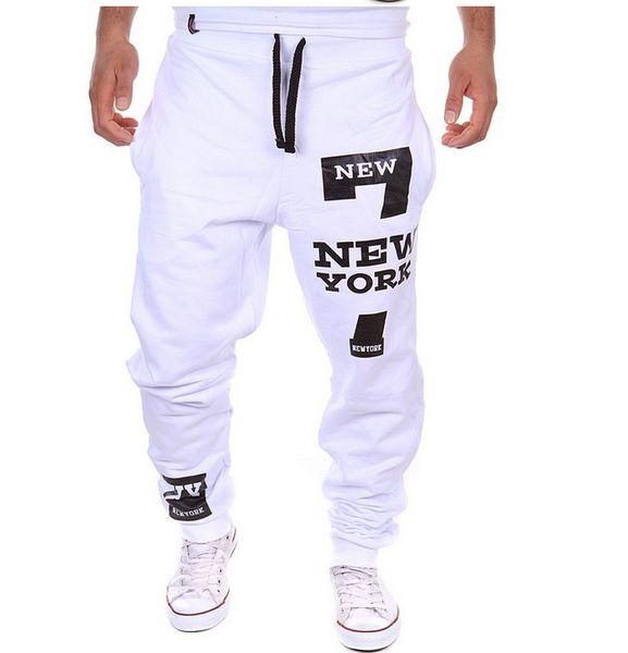 Wholesale-Men Dance Baggy Harem Pants Sweat Pants Hip Hop Mens Designer Pants Fitness Swag Sport Jogger Trousers Gym Clothing Plus Size