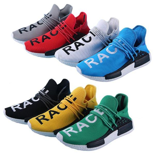 7 colores corredor raza humana Pharrell Williams Boots zapatos deportivos hombres calzado talla 40-45 hombres zapatillas de baloncesto zapatillas de deporte
