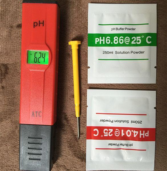 top popular Hot sale Digital LED PH Meter Pocket Pen water quality monitor Tester 0-14 measure for Aquarium or laboratory 2021
