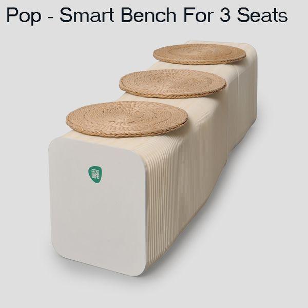H28cm x L150cm Innovation Furniture Pop - Smart Bench Indoor Universal Waterproof Accordion Style Kraft Portable Sofa for 3 Seats 71-1036