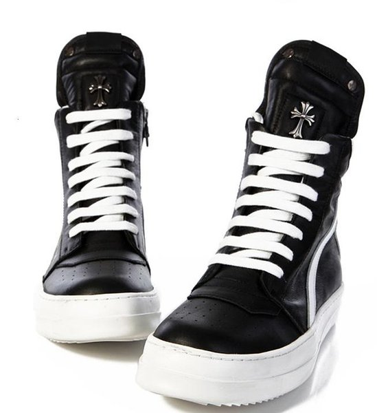 CH black white leather