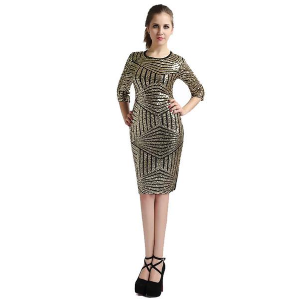 Pas cher avant et après la nouvelle robe sexy jupe bandage gaze paillettes robe club de la mode LYQ090