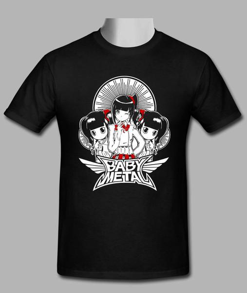 Детские металлические мужские пользовательские черная футболка