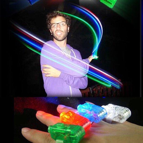 Poutres de doigts LED doigt bague lumineuse laser LED Rave Dance Party Favors faisceaux lumineux DEL Finger Free Light expédition 50Pcs / lot # 08