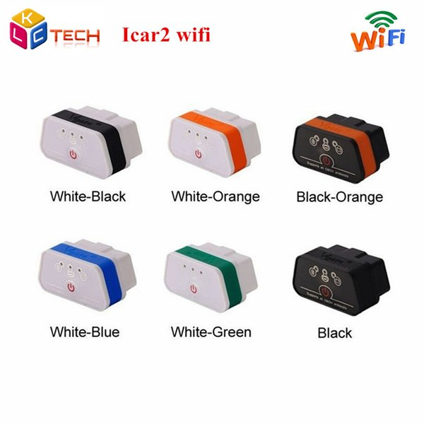 Wholesale- Top-saled iCar 2 Support IOS/Android New Level For ELM327 WIFI Auto Diagnostic Scanner Tool Vgate iCar2 Wifi OBD2 OBDII
