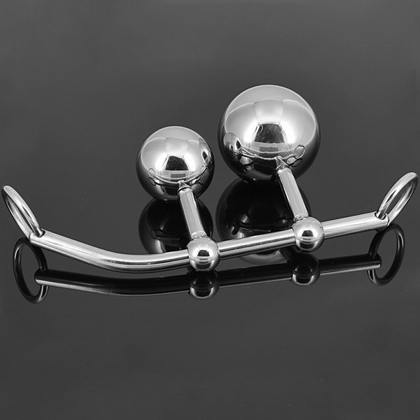 A612 stainless steel female anal vaginal double ball chastity device female slaves chastity lock device sm products wholesale