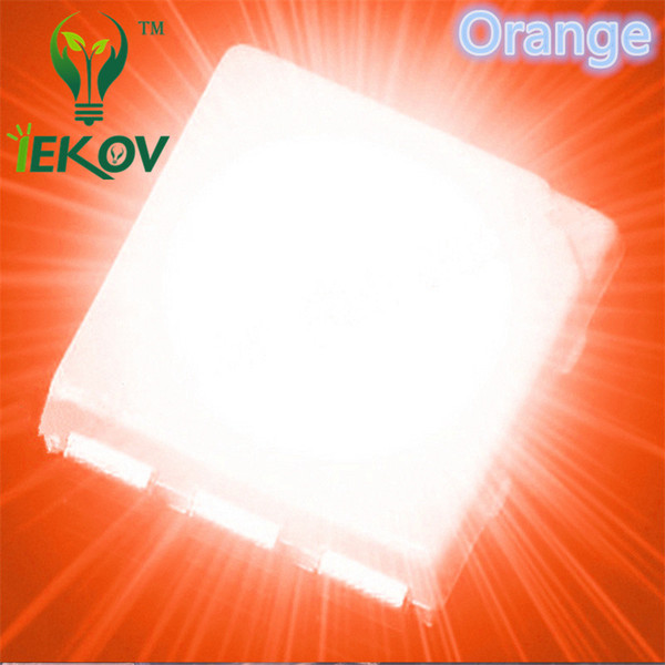 10000pcs PLCC-6 5050 Orange/Amber LED SMD highlight light-emitting diodes 600-900mcd High Quality SMD/SMT Chip lamp beads DIY