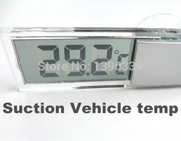 100pcs by DHL FEDEX Osculum Type car suction mini portable Temperature gauge temp measure digital LCD display celsius Thermometer