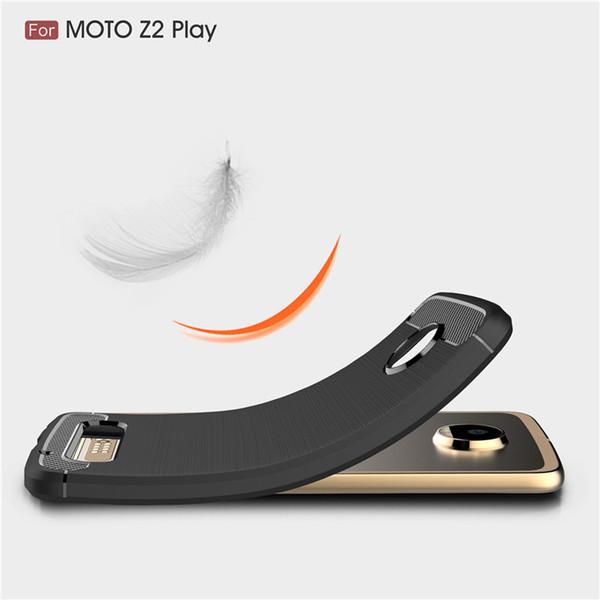 for motorola moto z2 play c plus z force phone case Carbon Fiber Brushed Texture case Environmental slim Hybrid Super rugged armor caus