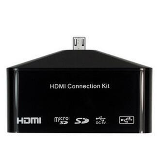Fábrica al por mayor todo en 1 USB transferencia de datos HDMI lector de memoria de conexión tarjeta micro SD TF para Samsung Galaxy S4 S3 Note2