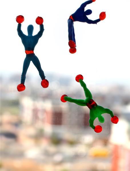 50PCS Arrampicata Spider Man appiccicoso arrampicata su parete Superman Nostalgic giocattoli divertenti giocattoli per bambini bambini