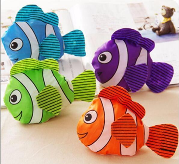 top popular New 5 Colors Tropical Fish Foldable Eco Reusable Shopping Bags 38cm x58cm Bag Fashion Accessories Grocery Bag 2019