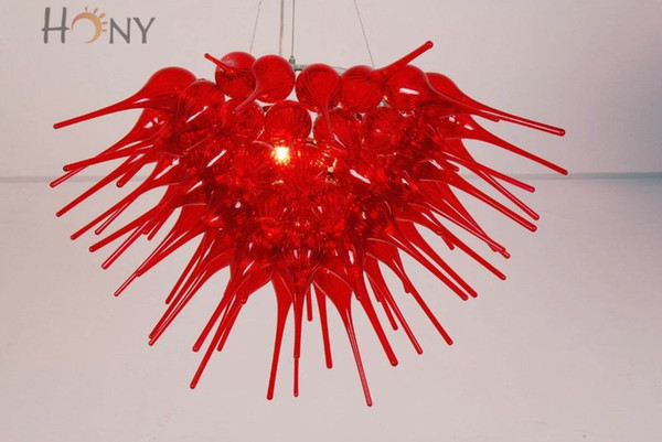 Free Shipping AC LED 100% Handmade Art Excellent Lighting Classic Style Hand Blown Art Glass Chandelier