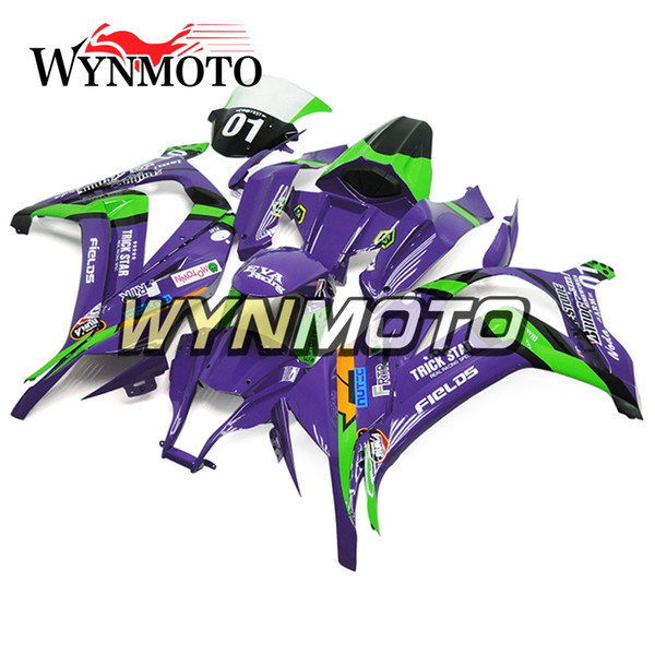 Verkleidungen für Kawasaki ZX-10R 2011 - 2015 2012 2013 ABS-Einspritzungs-Plastik-Cowlings-Karosserie-Hülsen grüne purpurrote Sportbike-Rahmen