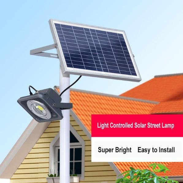 10W Solar Panel Powered Street Light Outdoor Super Bright 8w Led Floodlight Garden Lamp for Backyard Park Road Nightlights LLFA